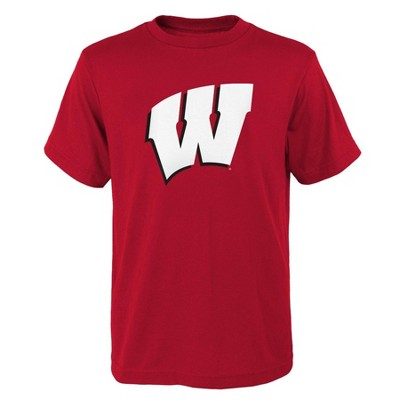 NCAA Wisconsin Badgers Boys' Short Sleeve Crew Neck T-Shirt