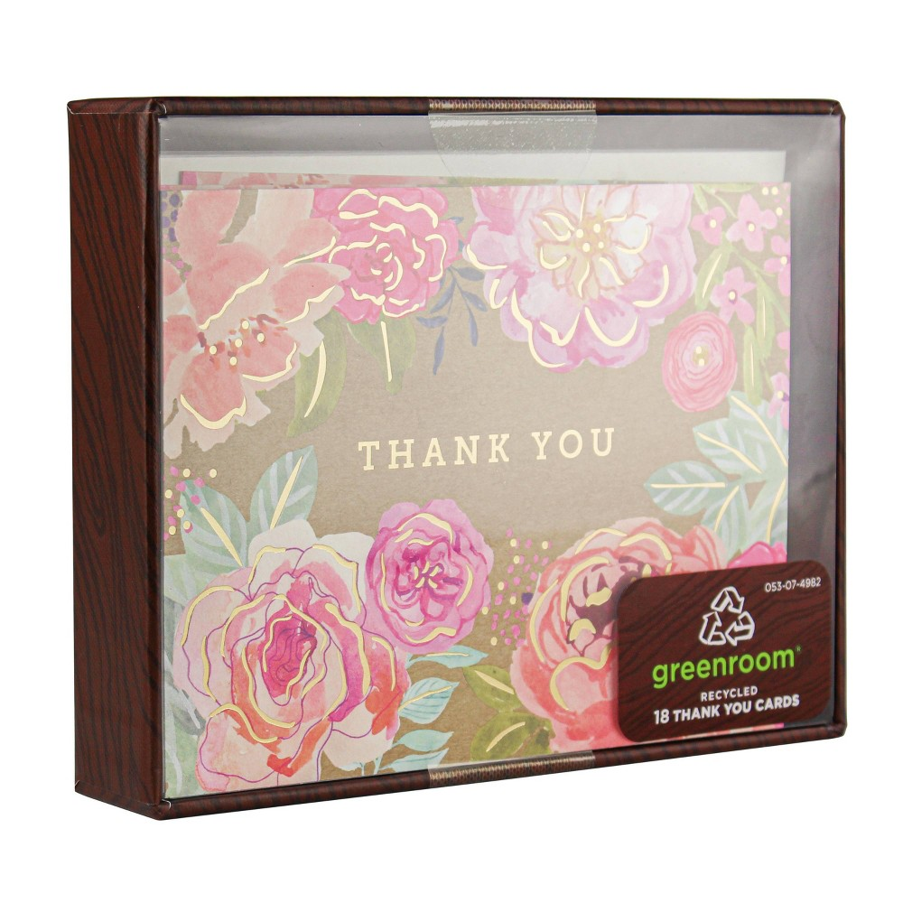 Image of 18ct Thank You Kraft Floral
