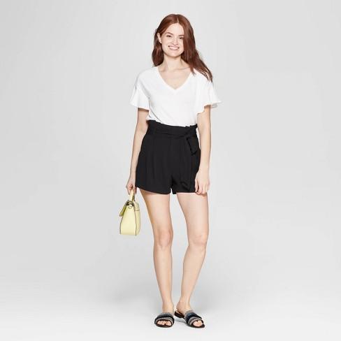 259cde2f9a9 Women s Short Sleeve Ruffle T-Shirt - A New Day™   Target