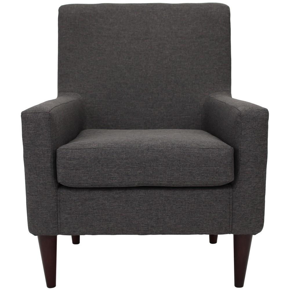 Emma Arm Chair Gray - Fox Hill Trading, Dark Gray