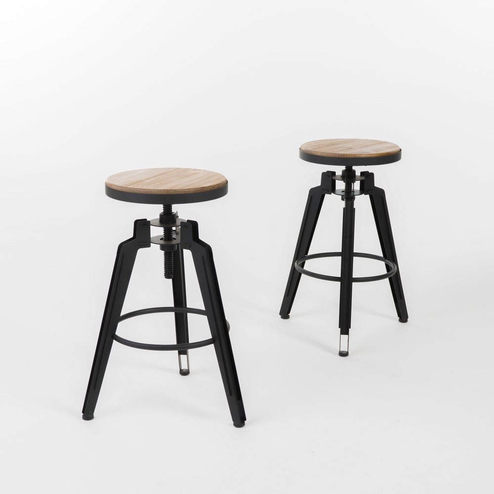Set of 2 Isla Swivel Barstool Antique Wood - Christopher Knight Home was $189.99 now $123.49 (35.0% off)
