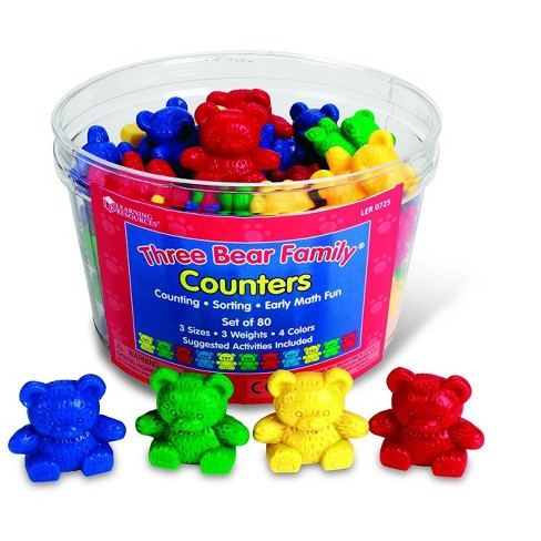 Learning Resources Three Bear Family Counters 80 Pieces Target