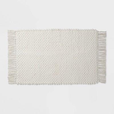 Fringe Bath Rug White - Threshold™