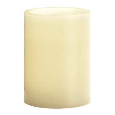 """3"""" x 4"""" Vanilla Scented LED Pillar Candle Cream - Made By Design™"""