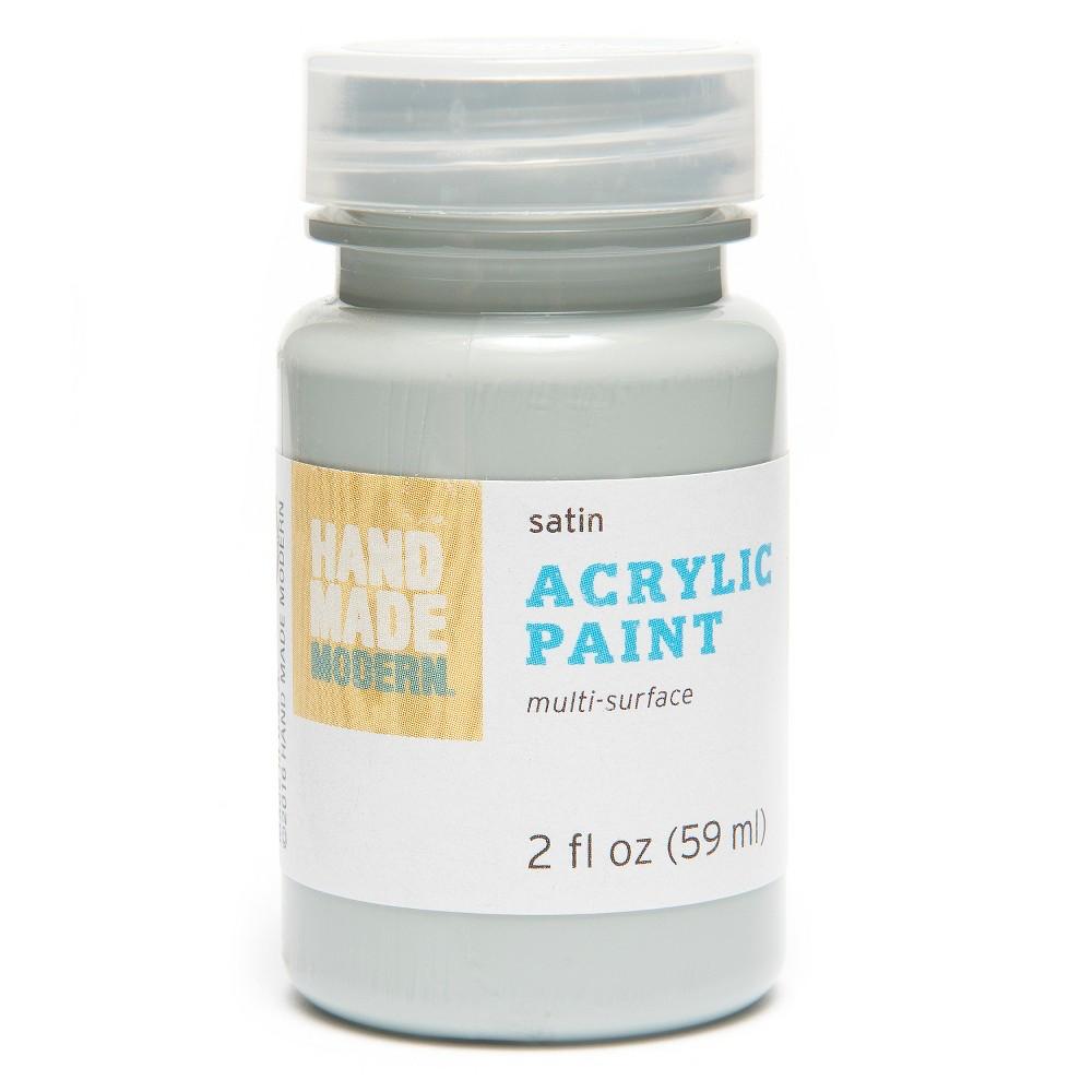Image of 2oz Satin Acrylic Paint - Morning Mist Hand Made Modern , Morning Blue