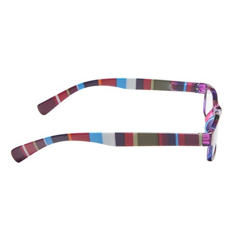 6907826351e8 ICU Eyewear Wink Healdsburg Purple Stripe Reading Glasses. Shop all ICU  Eyewear