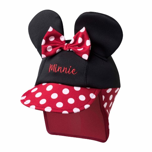 Toddler Girls' Disney Minnie Mouse Safari Sun Hat - Black/Red One Size - image 1 of 1