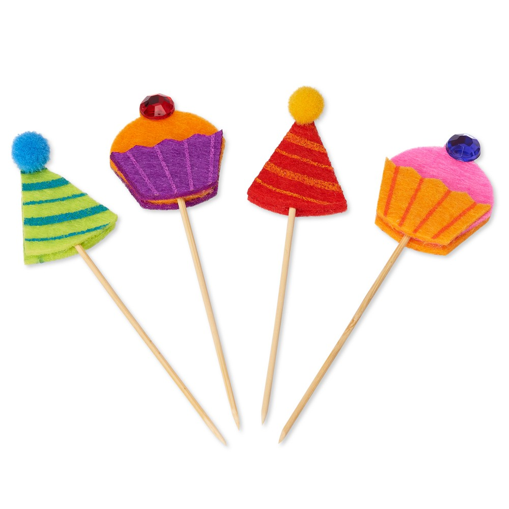 Papyrus Cupcakes & Hats Party Picks, Multi-Colored