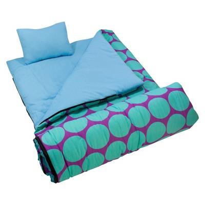 Wildkin Big Dots Sleeping Bag - Aqua