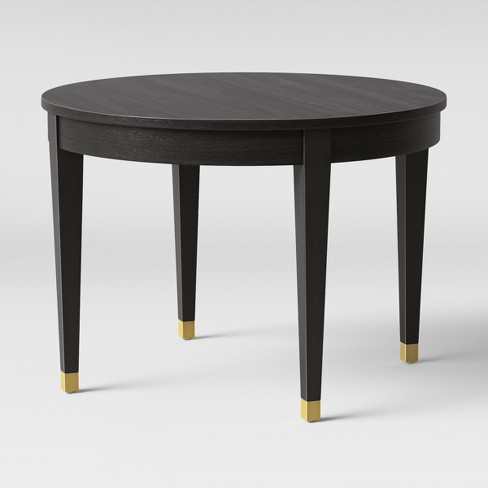 42 Duxbury Brfoot Dining Table Round Black Threshold