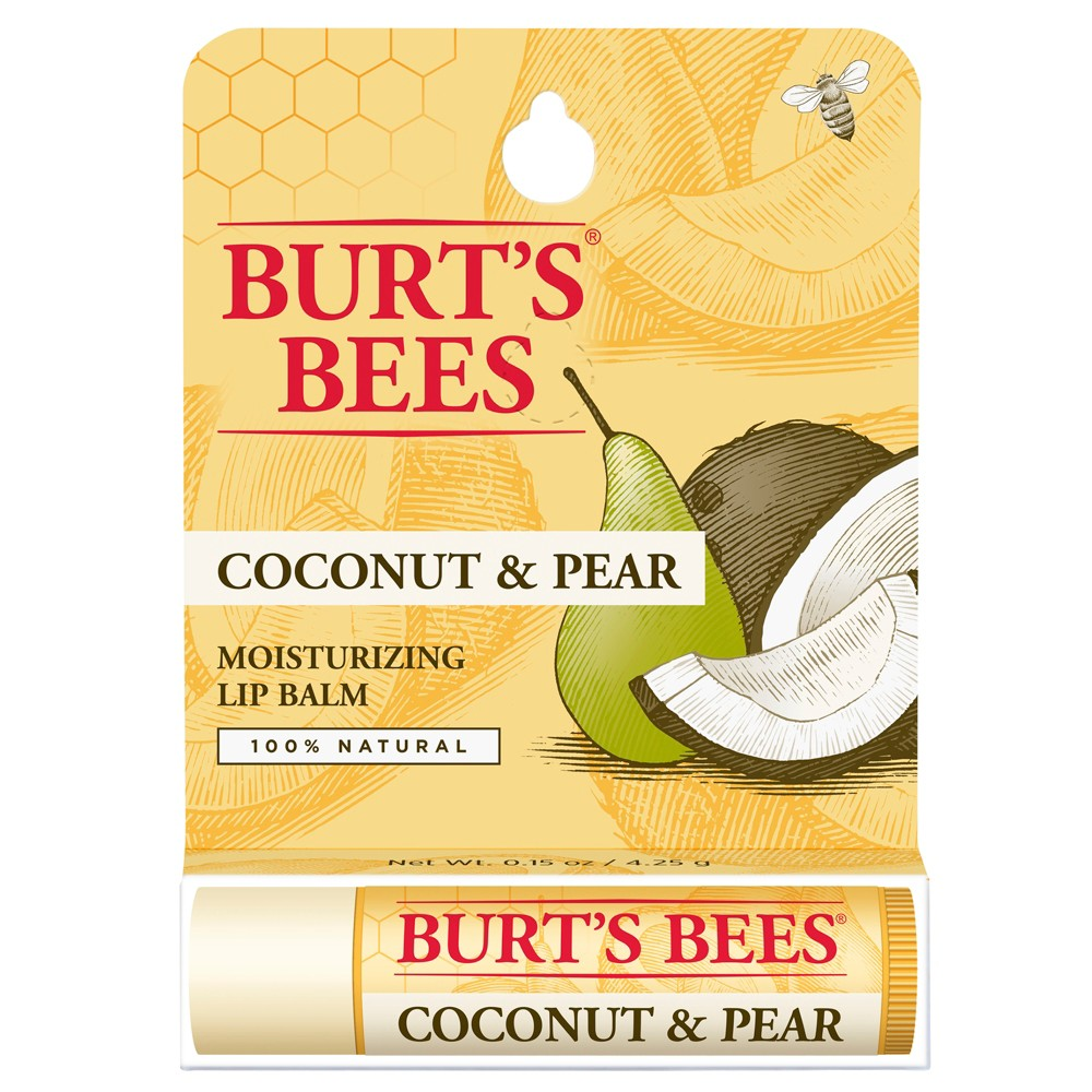 Burt's Bees Coconut and Pear Lip Balm Blister Box - 0.15 oz