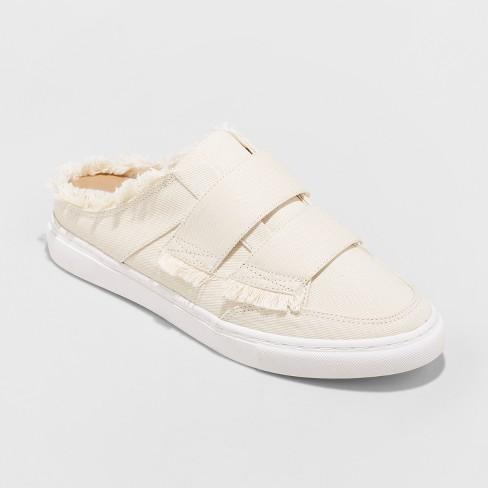 e280a3ff9482 Women s Aurora Backless Sneakers - Universal Thread™ Cream   Target