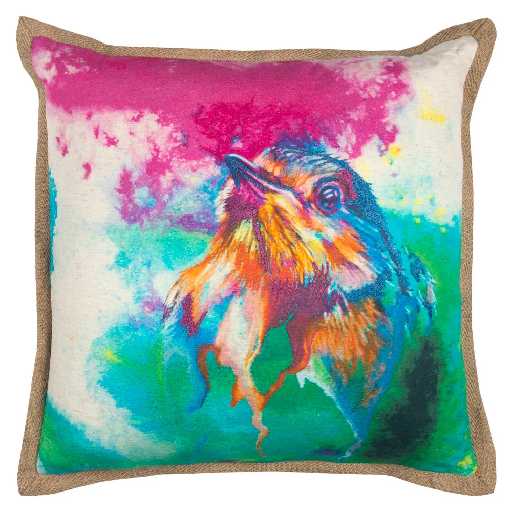 Rizzy Home Animal Print Throw Pillow Blue, Pink
