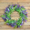 Northlight Lavender and Leaves Artificial Spring Wreath, Purple and Green 24-Inch - image 3 of 3