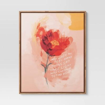 "17"" x 21"" Flower Quote by Morgan Harper Nichols Framed Wall Canvas"