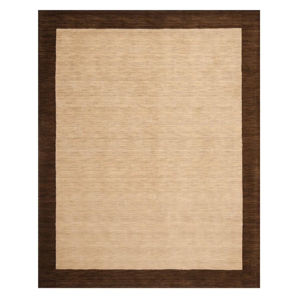 8'X10' Color Block Loomed Area Rug Beige/Dark Brown - Safavieh