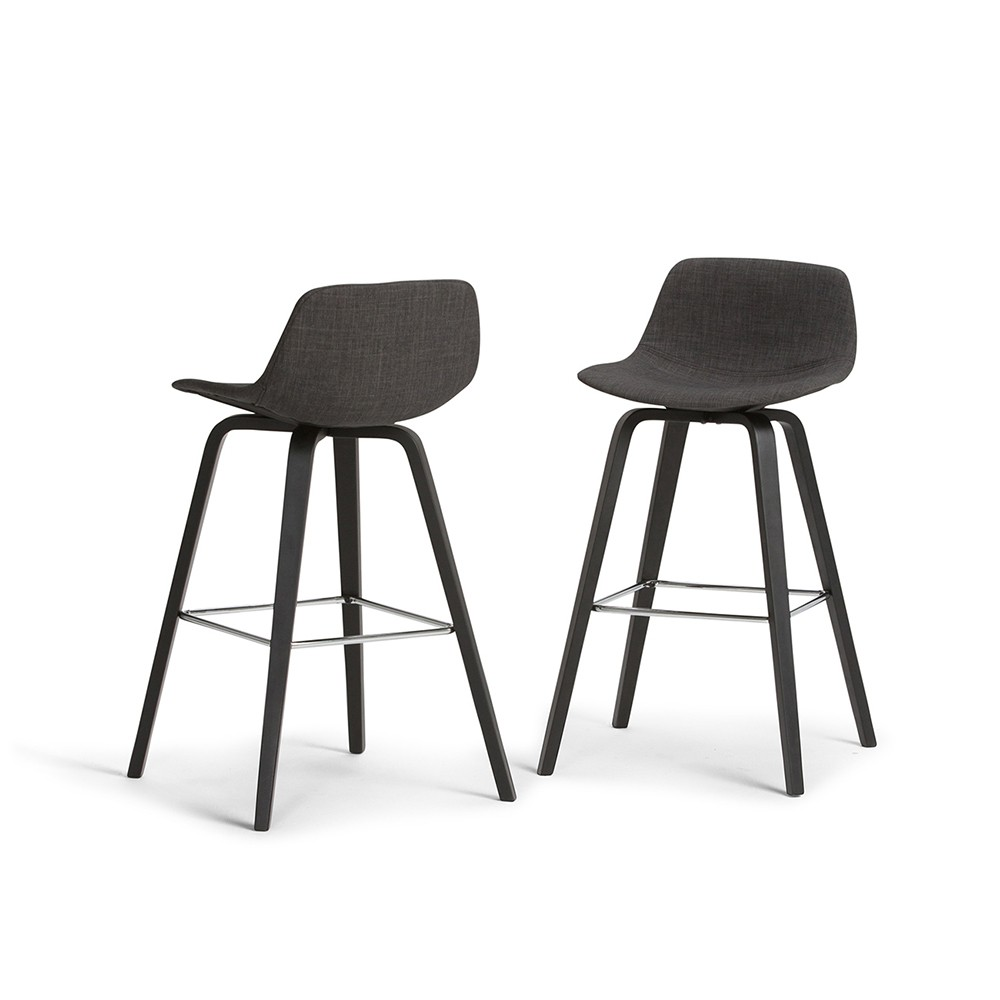 Surprising Cacey Bentwood Counter Height Stool Set Of 2 Charcoal Pabps2019 Chair Design Images Pabps2019Com