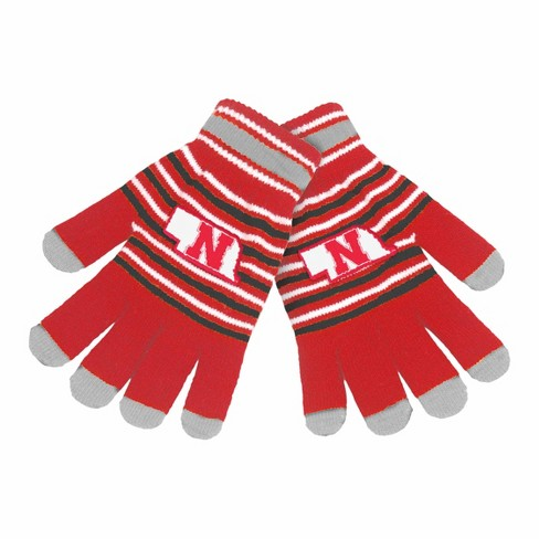 b1b0c23c143538 NCAA Nebraska Cornhuskers Knit Glove : Target