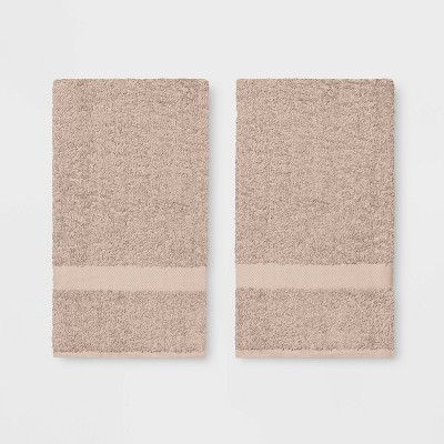 2pk Hand Towel Tan - Room Essentials™