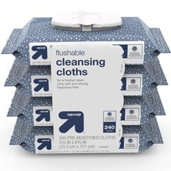 Flushable Cleansing Cloths Fragrance Free - 240ct - Up&Up™