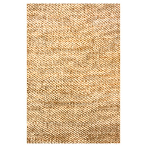 Nuloom Hand Woven Hailey Jute Area Rug Off White 10 X 14