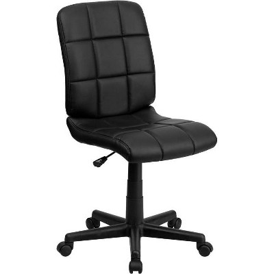 Mid-Back Swivel Task Chair Quilted Vinyl - Flash Furniture