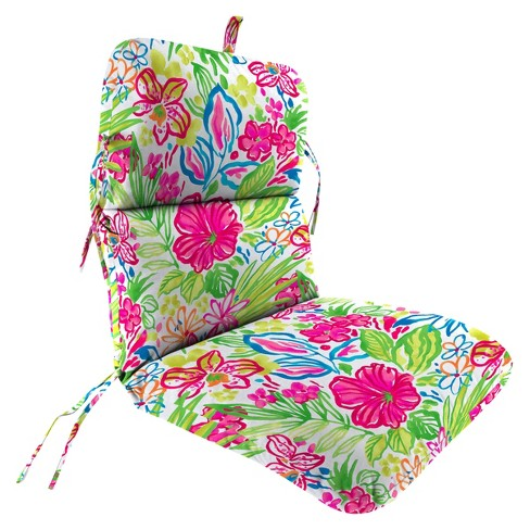 Outdoor Knife Edge Dining Chair Cushion In Valeda Island Jordan Manufacturing