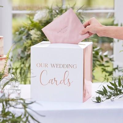 Wedding Cards Box White