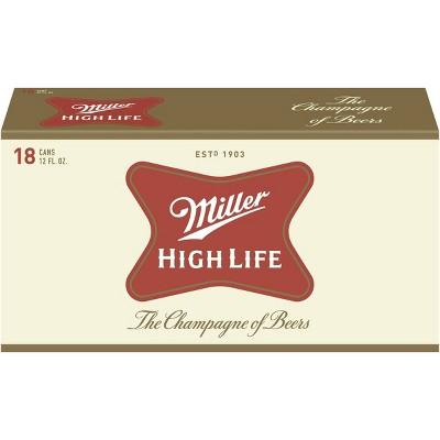 Miller High Life Beer - 18pk/12 fl oz Cans