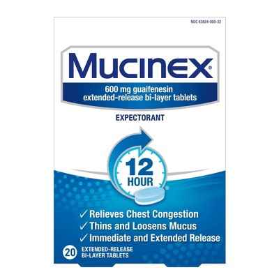 Mucinex 12-Hour Chest Congestion Expectorant Tablets