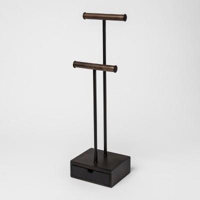 Pillar Jewelry Box Black/Walnut - Umbra