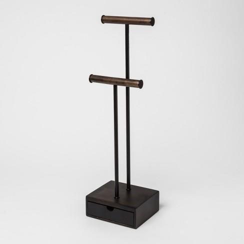 Pillar Jewelry Box Black/Walnut - Umbra - image 1 of 4