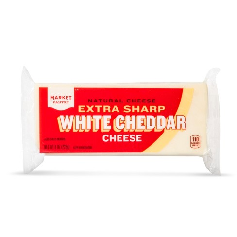 Extra Sharp White Cheddar Cheese - 8oz - Market Pantry™ - image 1 of 1
