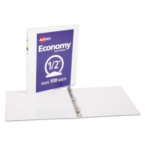 avery 5 economy view binder with round rings 8 5 x 11 3ct
