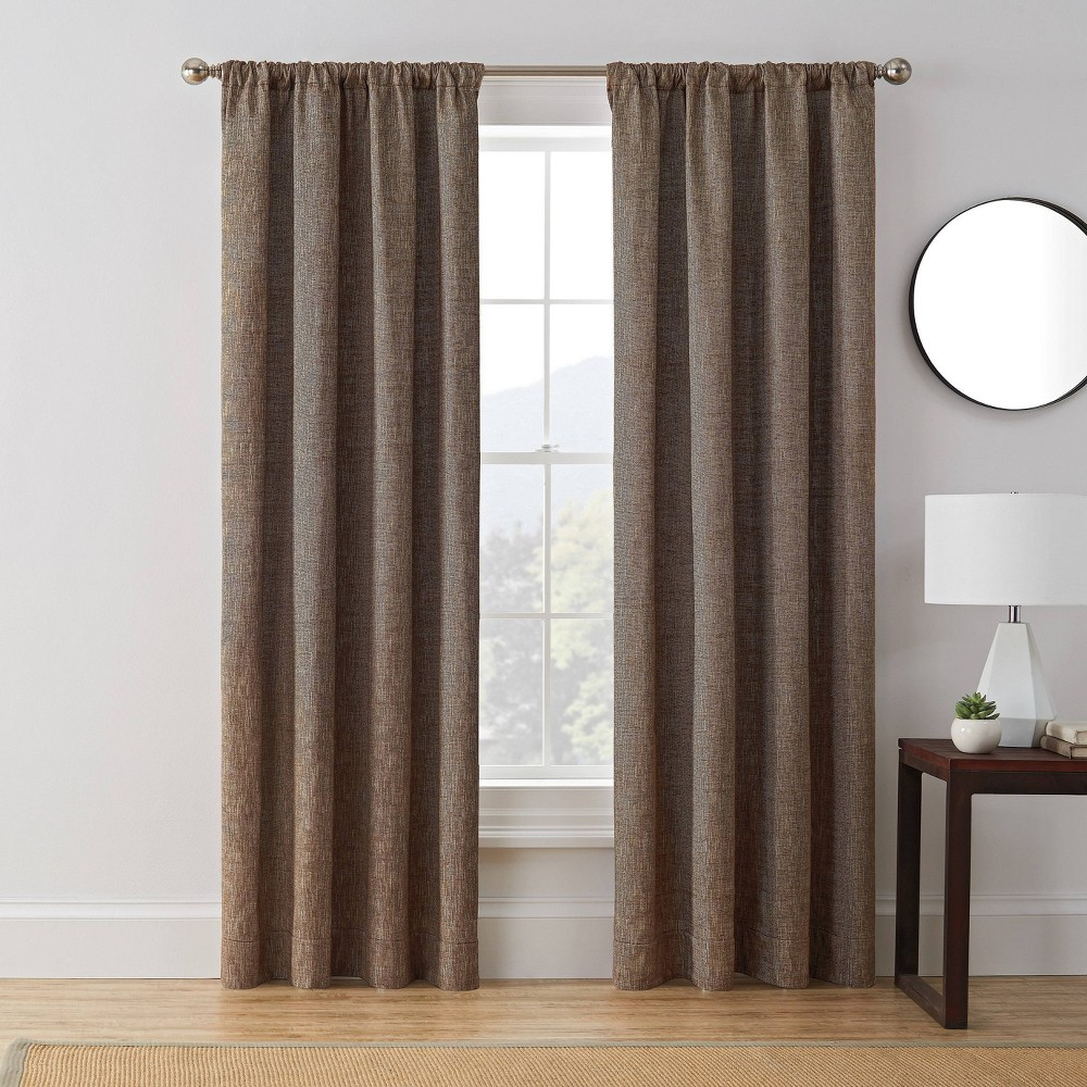 63 34 X50 34 Troy Room Darkening Window Curtain Panel Brown Brookstone