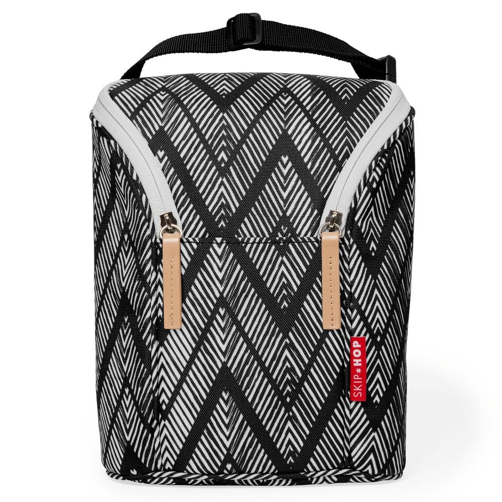 Skip Hop Grab & Go Double Bottle Bag - Zig Zag Zebra
