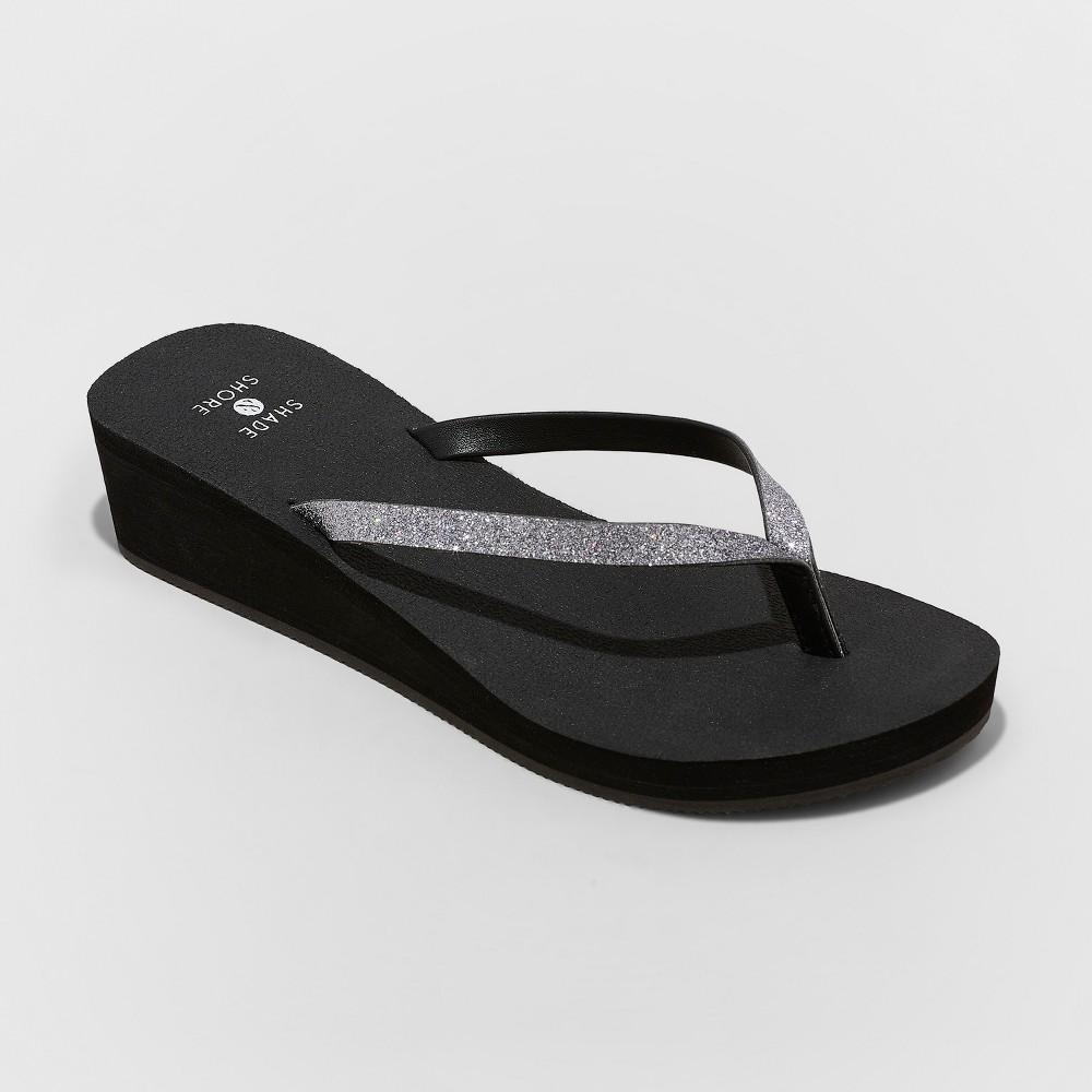 Womens Jessica Glitter Yoga Bottom Thong Sandals Shade
