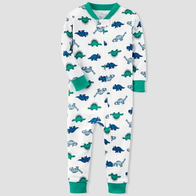 Baby Boys' Dino Sleep Coverall - little planet™ organic by carter's® Green/Blue 12M
