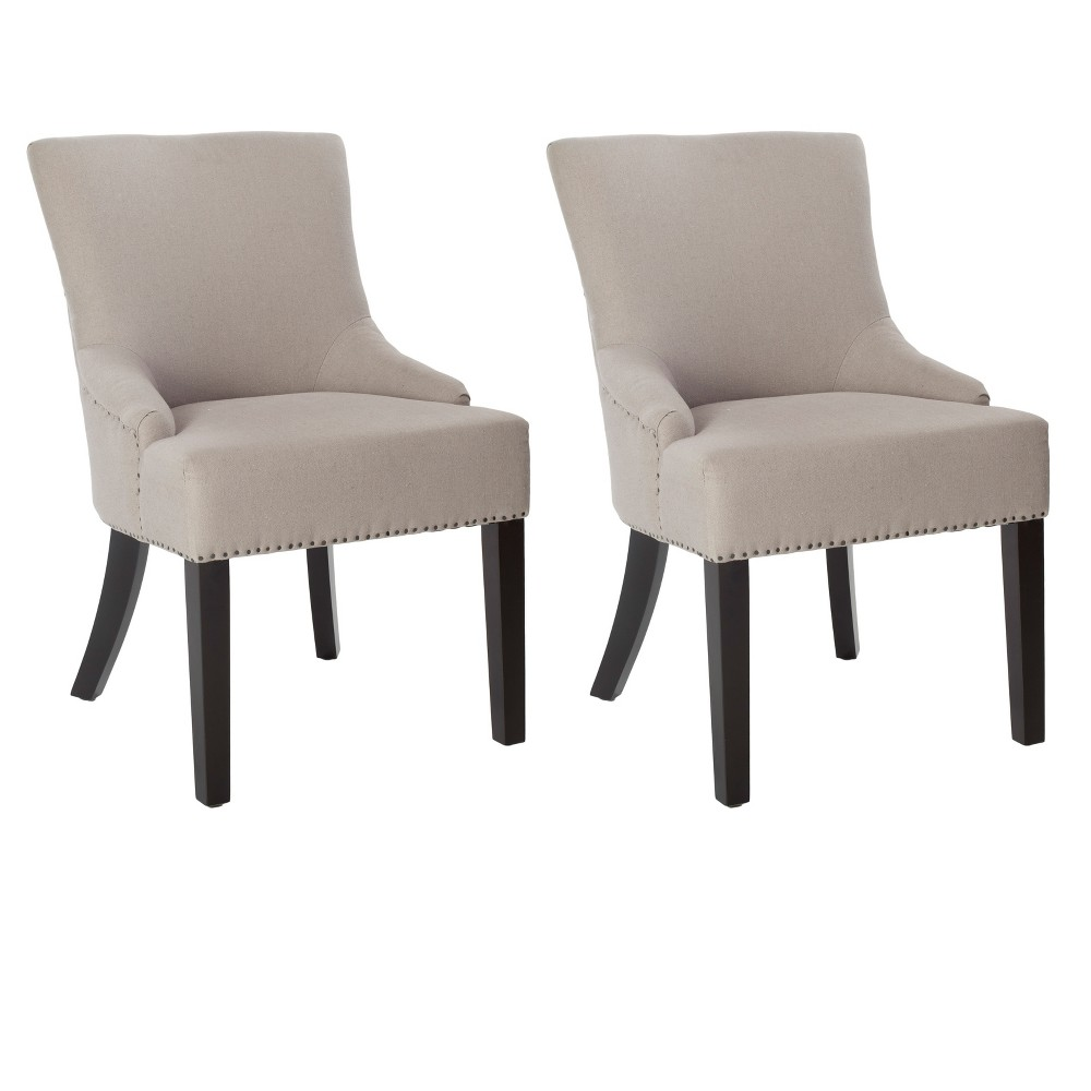 Lotus Linen Dining Chair - Soft Taupe (Brown) (Set of 2) - Safavieh