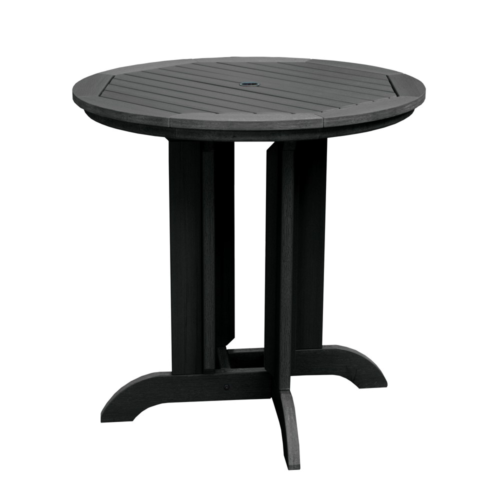 Round 36 Counter Dining Table Black - Highwood