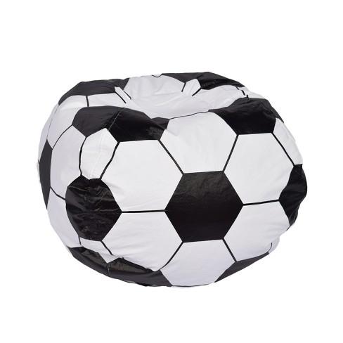 Soccer Ball Bean Bag Chair Matte White Ace Bayou