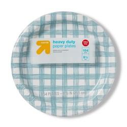 """Line Plaid Paper Plates 8.5"""" - 154ct - Up&Up™"""
