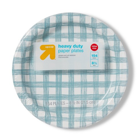 """Line Plaid Paper Plates 8.5"""" - 154ct - Up&Up™ - image 1 of 2"""