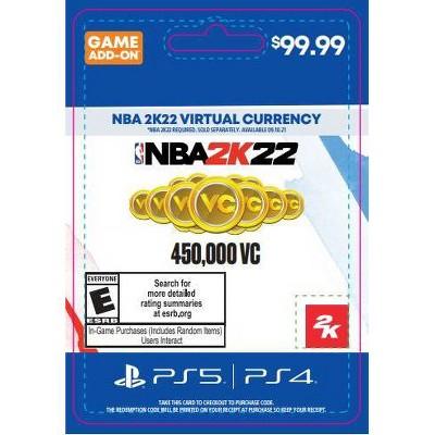 NBA 2K22 Virtual Currency - PlayStation 4/5 (Digital)