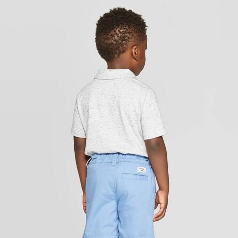 2debb636 OshKosh B'Gosh Toddler Boys' Multi Stripe Polo Shirt - Gray : Target