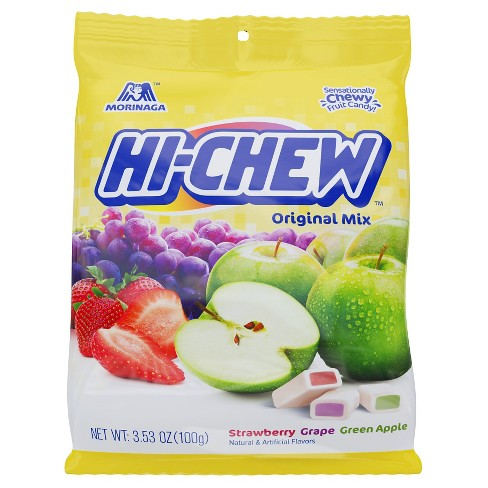 Morinaga Hi-Chew Original Mix Strawberry Grape Green Apple Fruit Chews 3.53 oz - image 1 of 1