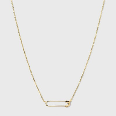 SUGARFIX by BaubleBar 14K Gold Plated Delicate Pin Pendant Necklace - Gold