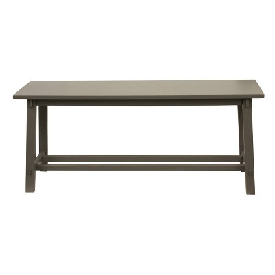 Eased Edge Gray Bench Gray - Décor Therapy