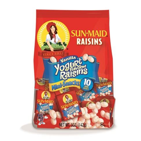 Sun-Maid Vanilla Yogurt Raisins Mini-Snacks - 10ct/5oz - image 1 of 4