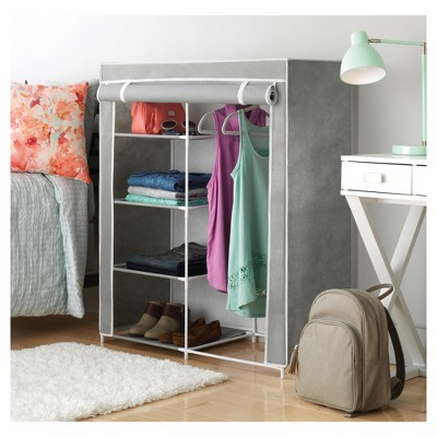 Whitmor Freestanding Closet With Gray Cover : Target